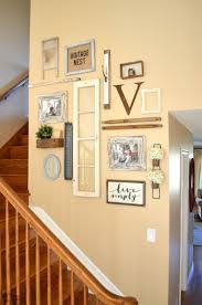 bedroom vintage ideas diy kitchen: vintage inspired staircase gallery wall vintage farmhouse wall decor ideas