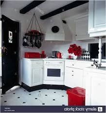 Black White And Red Kitchen Designs Red Accessories In Black And White Kitchen With Black White