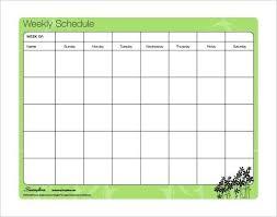 Free Schedules Monthly Calendar Template Word 2010 U2013