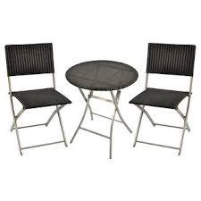 small space patio furniture. wicker 3pc bistro patio set threshold small space furniture