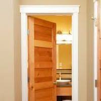 White Interior Doors With Stained Wood Trim Door Ideas