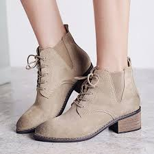 teahoo retro genuine leather boots women autumn shoes pointed toe lace up ankle boots for women short booties las ankle grey boots brown ankle boots from