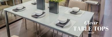 clear glass table tops