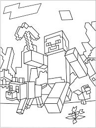 Minecraft Kleurplaat Steve Archidev