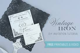 diy invitation templates free printable vintage iron wedding invitation and pocket boho