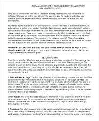 Sample Formal Report Sample Formal Lab Report Xhodl Co