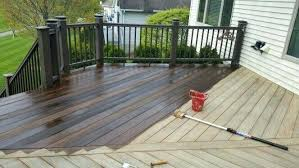 Deck Refinishing Cost Staining Ideas Two Tone 2 And Fence