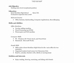 Sample High School Resume No Work Experience Inspirational Amazing