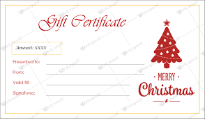 certificate template pages christmas gift certificate templates for word editable printable