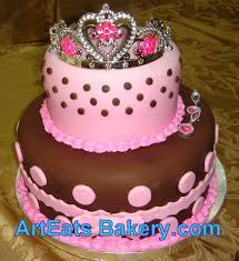 Pin Princess 1st Birthday Cake With The Girls Name Toy Tiara Cake On