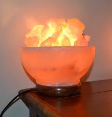 himalayan salt lamp bowl mood enhancing breathing