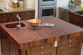 end grain exotic mix with undermount sink