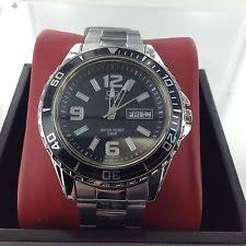 dive watches citizen seiko casio timex mens q q watch by citizen black dial day date 50m mariner fish s dive
