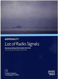 British Admiralty Charts List Admiralty List Of Radio Signals Alrs Vol 3 2 Maritime Safety Information Services Americas Far East Oceania