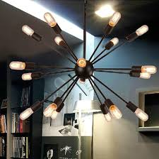 18 light starburst chandelier and sputnik heads atomic lamp mid with 800x796px
