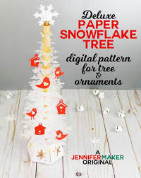 Christmas snowflake icons ( 1612 ). Deluxe Paper Snowflake Christmas Tree Luminary Pattern And Svg Cut Fil Jennifermaker
