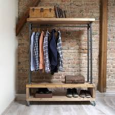 clothing storage solutions. Industrial Style Clothing Storage Unit This Has A Great Look And Simple Stylish Solution For Hanging Clothes Hats; Solutions S
