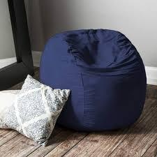 modern bean bag furniture. navy microsuede 3 foot jaxx sac modern bean bag furniture