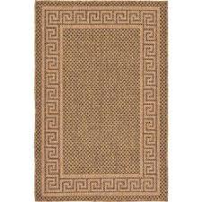 outdoor greek key brown 3 3 x 5 0 area rug