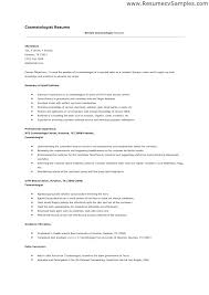 Cosmetology Resume Magnificent Cosmetology Resume Templates Swisstrustco