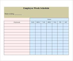 Printable Work Schedule Templates Free Free Printable Work Schedule Template Weekly Planner Excel Template