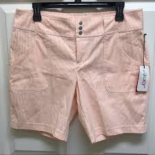 Nwt Jofit Peach White Striped Shorts In Size 6