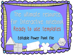 Editable Foldable Templates Interactive Notebook Foldable Flip Flap Templates Editable
