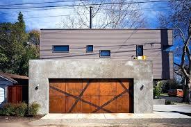 inspirational examples of modern garage doors angular strips steel mesh break up for in south modern long side glass garage doors