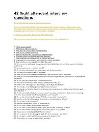42 flight attendant interview questions