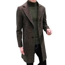 2019 hot high quality fashion design men formal single ted figuring overcoat long wool jacket outwear plus winter coat men new from yesterlike