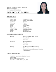 Resume Sample For Undergraduate Students Philippines Fresh Resume