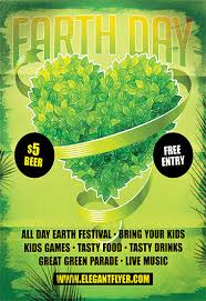 Earth Day Celebration Flyer Psd Template