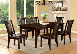 furniture of america cm3910t cm3984dk sc emmons i 7 pieces with cherry dining room set design
