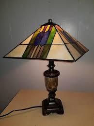 vintage stained glass lamp shade