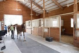 Horse Barn Designs Photos Morton Buildings Horse Barn Interior In Texas Barn Stalls
