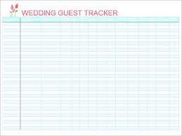 Printable Wedding Guest List Organizer Awesome Printable Wedding Guest List Template 17 P D F Word