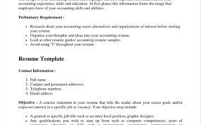 Old Fashioned Sample Resume For Fresh Accounting Graduate Without