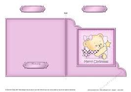 Cute Hunney Bear Rosie Has A Christmas Star Cut And Fold Corner Card