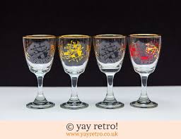 4 atomic 1950s sherry port glasses 12 50
