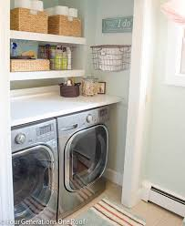 budget laundry room reveal laundry closet
