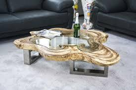 Baumstamm Scheibe Tisch Amazing Massiver Baumstamm Tisch Mammut Avec