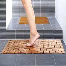 bamboo bathroom mat bamboo bath mat shower spa mat inch x inch wood non skid backing