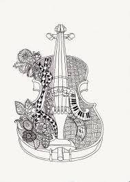Small Picture el violin mas hermoso magdalas Pinterest Adult coloring