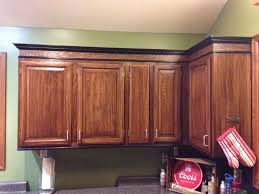 Trim For Cabinets Just Stained The Honey Oak Cabinets Darker And Added Trim To The