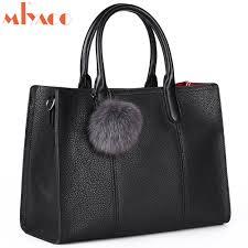 Original Design Bags Us 104 49 45 Off Miyaco Luxury Women Genuine Leather Handbags Female Original Design Women Bag Black Cow Leather Top Hnadle Bag Big Tote Bags In