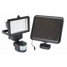 BRINKS LED Solar Powered MotionActivated Security Light White Solar Security Flood Light