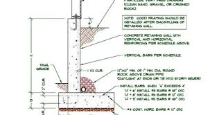 basement wall design. Basement Walls Vs Retaining Foundation Basement Wall Design