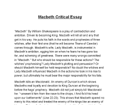 ambition in macbeth essay co ambition in macbeth essay
