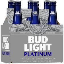 Bud Light Living Room Bud Light Platinum Beer 6 Pack Beer 12 Fl Oz Bottles
