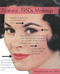 authentic and natural 1950s makeup guide how to create a vine makeup look worn by
